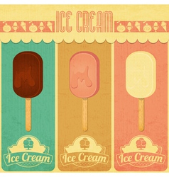 Ice Cream Dessert Vintage Menu vector image
