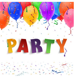 Party Colorful handmade typeface vector image vector image