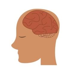 Profile head brain idea imagination vector