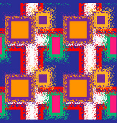 seamless abstract pattern with neon squares vector image