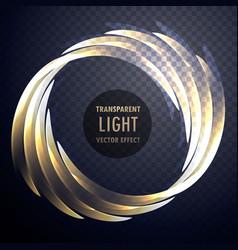 transparent shiny light effect swirl background vector image vector image