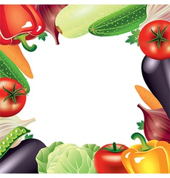 vegetables frame vector image vector image