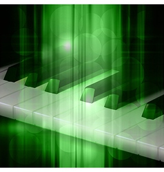 abstract green music background with piano keys vector image vector image