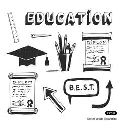 Education and school icon set vector image vector image