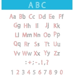 Classic Hand Drawn Alphabet ABC for Your Design vector image