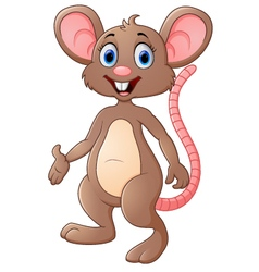 Cute mouse cartoon presenting vector image vector image