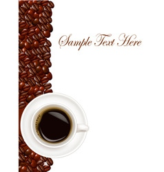 design with cup of coffee vector image vector image