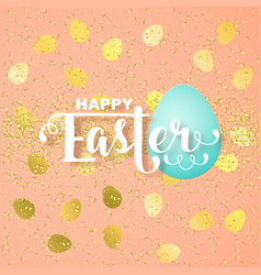 Easter card with calligraphic greeting vector