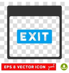 Exit Caption Calendar Page Eps Icon vector image