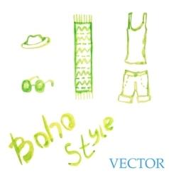 Watercolor summer set Womens t-shirt shorts vector image vector image