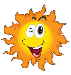 A happy sun vector