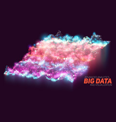 Abstract colorful big data vector