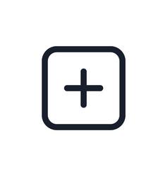 add new content black line icon popular media vector image