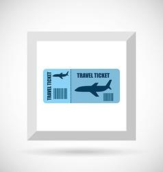 airplane travel design vector image