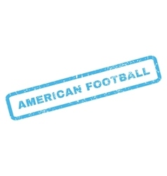 American Football Rubber Stamp vector image