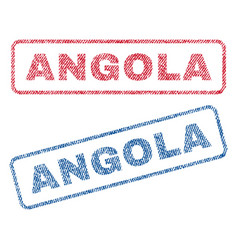 Angola textile stamps vector