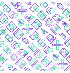 app development seamless pattern vector image