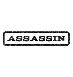 Assassin watermark stamp vector