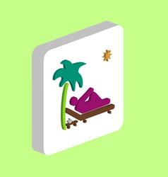 beach computer symbol vector image