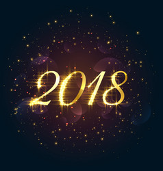 beautiful 2018 sparkles new year background vector image
