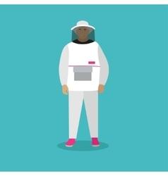 Beekeeper man in uniform in vector image
