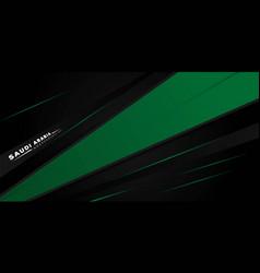 Black green geometric background design vector