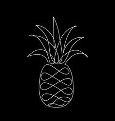 black pineapple image vector image