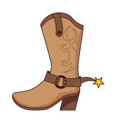 boots cowboy wild west vector image