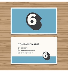 business card number 6 vector image