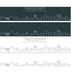 cambridge single line skyline banner vector image