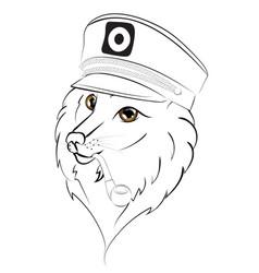 Captain wolf vector