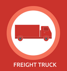 cargo delivery freight truck hand-drawn on white vector image