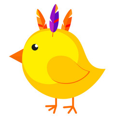 Cartoon chicken chick icon poster vector