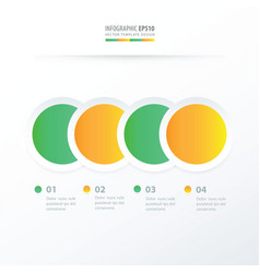 circle overlap infographic green yellow color vector image