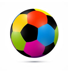 Colorful Football Ball vector image