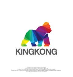 colorful gorilla logo vector image