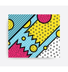 Colorful Pop art pattern vector