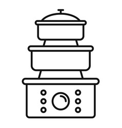 cooker icon outline style vector image
