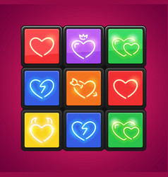 Cube with love puzzle vector