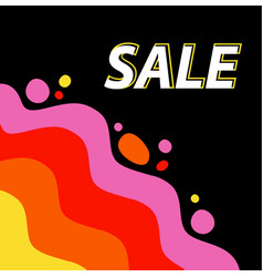 discounted sale bright background for the vector image