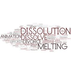 Dissolution word cloud concept vector
