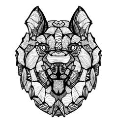 Entangle dog husky vector