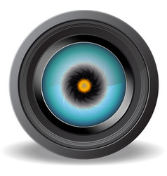 Eye in Camera Lens vector