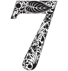 Floral seven vector