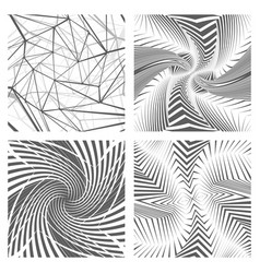geometric abstract background set design concept vector image