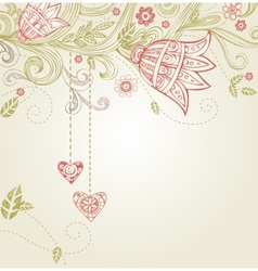 Greeting card for wedding or valentines day vector image