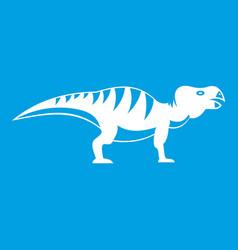Hadrosaurid dinosaur icon white vector