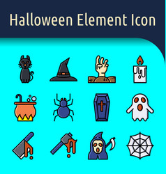 Halloween color line icon2 vector