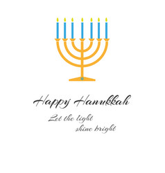 happy hanukkah day on a white background vector image