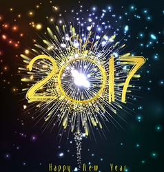 Happy new year 2017 Fireworks vector